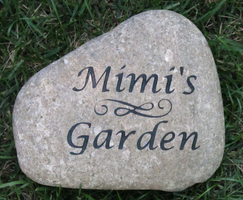 Garden Stone Engraved River Stone Garden Stone Great Mother's Day Gift Idea 8-9 Inch