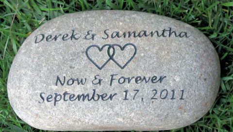 Personalized Oathing Stone Unique Wedding Gift 11 12 Inch Celtic Irish