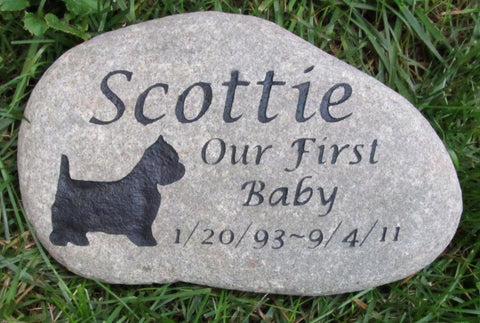 PERSONALIZED Stone Pet Memorial West Highland Terrier 10-11 Inch Pet Memorial Stone Headstone Tombstone Gravestone & Other Dog Breeds - Pet Memorial Stones, Personalized Pet Stone Memorial Grave Marker, Dog Memorial, Cat Memorials, Pet Gravestone Markers, Headstone