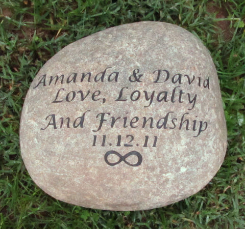 Personalized Oathing Wedding Stone 11-12 Oath Stone Wedding Gift Engagement Gift Idea With Infinity Design - Pet Memorial Stones, Personalized Pet Stone Memorial Grave Marker, Dog Memorial, Cat Memorials, Pet Gravestone Markers, Headstone