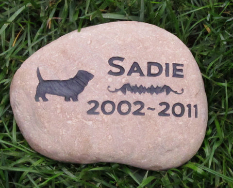 Basset Hound Memorial Stone Basset Hound Memory Stone 8-9 Inch Memorial Burial Headstone Marker - Pet Memorial Stones, Personalized Pet Stone Memorial Grave Marker, Dog Memorial, Cat Memorials, Pet Gravestone Markers, Headstone