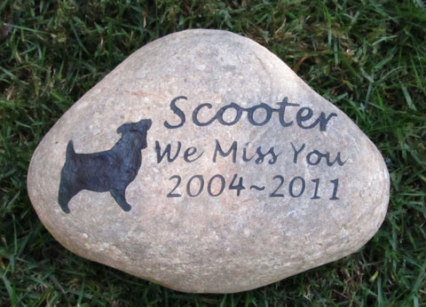 Personalized Pet Stone Memorial Jack Russell Terrier & Other Breeds 9-10 Memorial Burial Stone Marker - Pet Memorial Stones, Personalized Pet Stone Memorial Grave Marker, Dog Memorial, Cat Memorials, Pet Gravestone Markers, Headstone