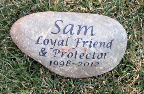 Personalized Memorial Stone for Dog Cat Memorial Pet Stone Garden Memorial Stone 9 - 10 Inch Memorial Stone Grave Maker - Pet Memorial Stones, Personalized Pet Stone Memorial Grave Marker, Dog Memorial, Cat Memorials, Pet Gravestone Markers, Headstone