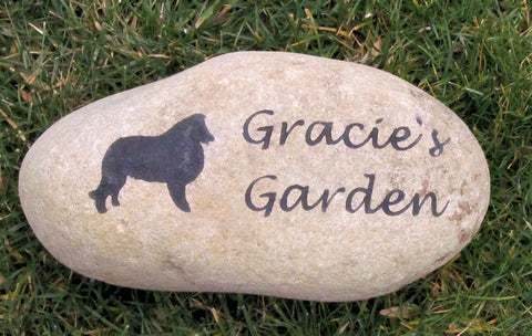 Personalized Sheltie Memorial Pet Stone Grave Marker Headstone Sheltie 8-9 Inch Memorial Stone Burial Stone Grave Marker & Other Breeds - Pet Memorial Stones, Personalized Pet Stone Memorial Grave Marker, Dog Memorial, Cat Memorials, Pet Gravestone Markers, Headstone