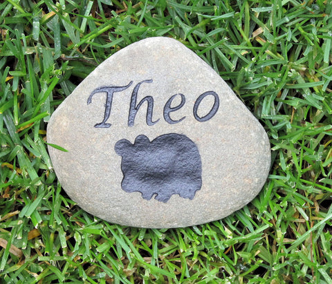 Personalized Guinea Pig Hamster or Gerbil Memorial Stone Pet Stone Memorial  4-5 Inch Grave Marker Stone Memorial - Pet Memorial Stones, Personalized Pet Stone Memorial Grave Marker, Dog Memorial, Cat Memorials, Pet Gravestone Markers, Headstone