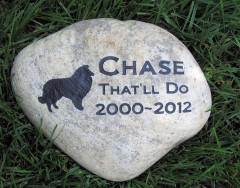 Personalized Pet Memorial Stone Sheltie Headstone Gravestone Marker 9-10 inch Memorial Burial Stone Grave Marker & Other Breeds - Pet Memorial Stones, Personalized Pet Stone Memorial Grave Marker, Dog Memorial, Cat Memorials, Pet Gravestone Markers, Headstone