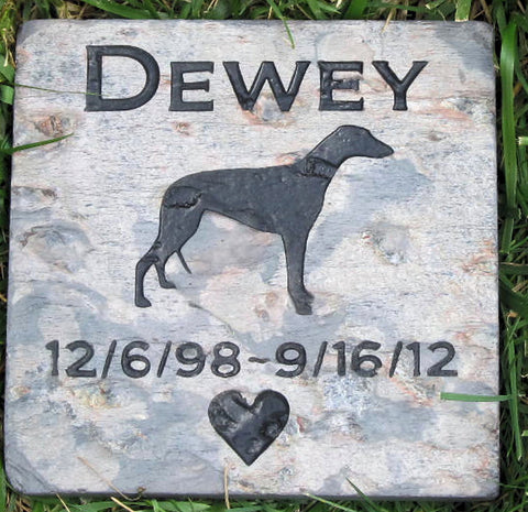 Greyhound Memorial Stone Greyhound Memory Stone Memorial Burial Stone Grave Markers & Other Breeds - Pet Memorial Stones, Personalized Pet Stone Memorial Grave Marker, Dog Memorial, Cat Memorials, Pet Gravestone Markers, Headstone