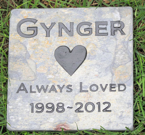 Personalized POet Stone Memorial 6 x 6 Inch Memorial Headstone Gravestone Cemetery Grave Marker Tombstone Cemetery Stone Marker - Pet Memorial Stones, Personalized Pet Stone Memorial Grave Marker, Dog Memorial, Cat Memorials, Pet Gravestone Markers, Headstone