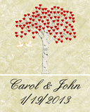 Personalized Wedding Tree Print Wedding Tree Gift Ideas 8 X 10 Wedding Tree Bridal Shower Gifts