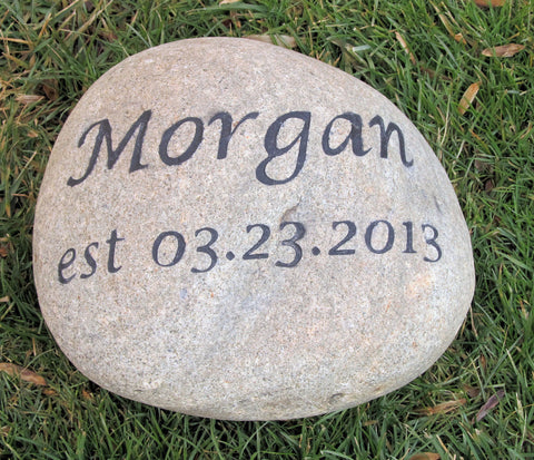 Personalized Oathing Wedding Stone Large 10-11 Inch Wedding Stone - Pet Memorial Stones, Personalized Pet Stone Memorial Grave Marker, Dog Memorial, Cat Memorials, Pet Gravestone Markers, Headstone