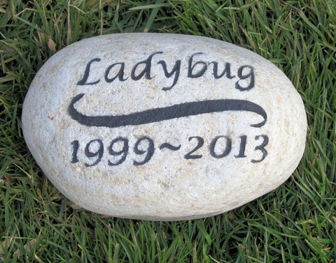Personalized Pet Memorial Grave Stone Headstone 6-7 Inch Memorial Pet Stone Grave Marker Tombstone Headstone Marker - Pet Memorial Stones, Personalized Pet Stone Memorial Grave Marker, Dog Memorial, Cat Memorials, Pet Gravestone Markers, Headstone