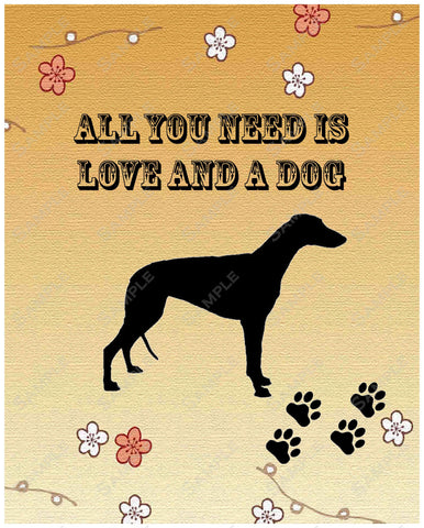 Personalized Greyhound Dog Greyhound Art Print 8 X 10 Greyhound Pet Gifts