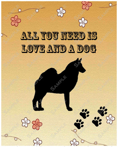 Personalized Norwegian Elkhound Dog Norwegian Elkhound Art Print 8 X 10 Norwegian Elkhound Pet Gifts