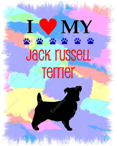 Jack Russell Terrier Print 8 X 10. Jack Russell Pet Gifts