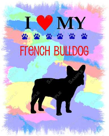 French Bulldog Art 8 X 10 Print. French Bulldog Pet Gifts