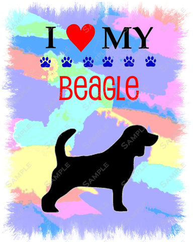 Personalized Beagle Dog Beagle Art Print 8 X 10 Beagle Pet Gifts