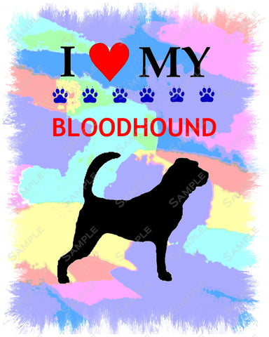 Personalized Bloodhound Dog Bloodhound Art 8 X 10 Print Bloodhound Pet Gifts