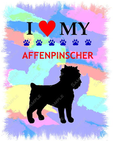 Personalized Affenspinscher Dog Affenspinscher Art 8 X 10 Print Affenspinscher Pet Gifts