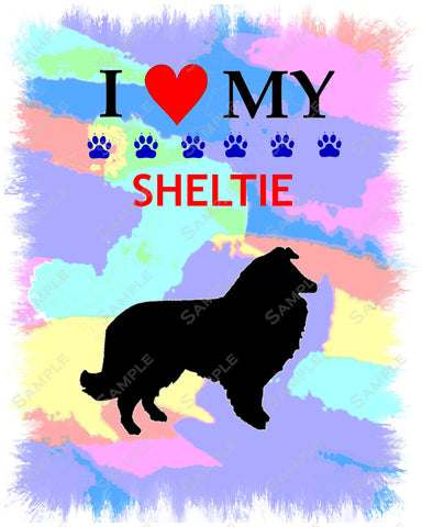 Personalized Sheltie Shetland Sheepdog Art Sheltie 8 X 10 Print Sheltie Pet Gifts