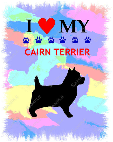 Personalized Cairn Terrier Dog Cairn Terrier Art  8 X 10 Print Cairn Terrier Pet Gifts