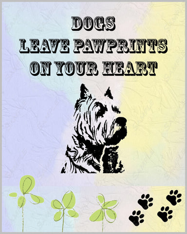 Westie 8 X 10 Art Print. Westie Pet Gifts