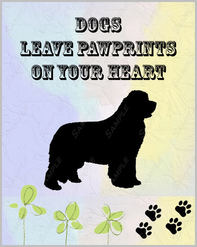 Personalized Newfoundland Newfie Dog Newfie Gift 8 X 10 Print Newfie Pet Gifts