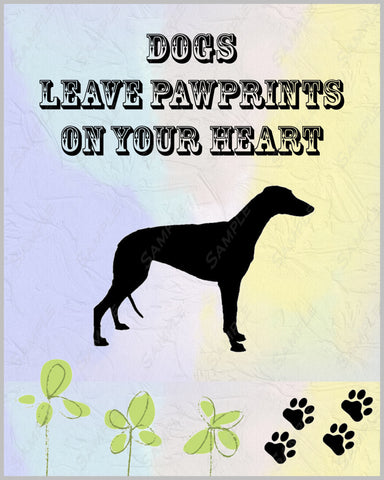 Greyhound 8 X 10 Print. Greyhound Pet Gifts