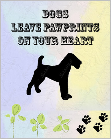 Fox Terrier 8 X 10 Print. Fox Terrier Pet Gifts Dogs Leave Pawprints On Our Hearts