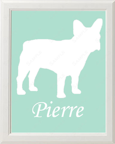 Personalized French Bulldog Dog Silhouette French Bulldog Art Print 8 X 10 French Bulldog Dog Print Pet Gifts