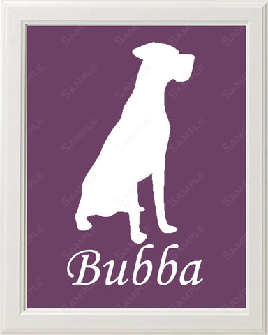Personalized Great Dane Dog Great Dane Silhouette Art 8 X 10 Print Great Dane Dog Pet Gifts
