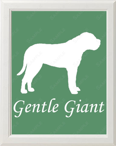 Mastiff Art 8 X 10 Print. Mastiff Dog Pet Gifts