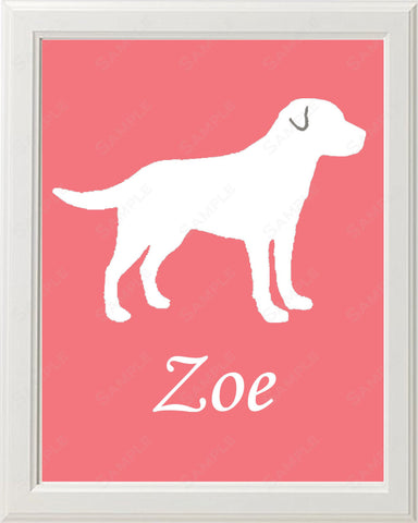 Personalized Labrador Retriever Dog Labrador Retriever Silhouette Art Print 8 X 10 Print Labrador Retriever Pet Gifts