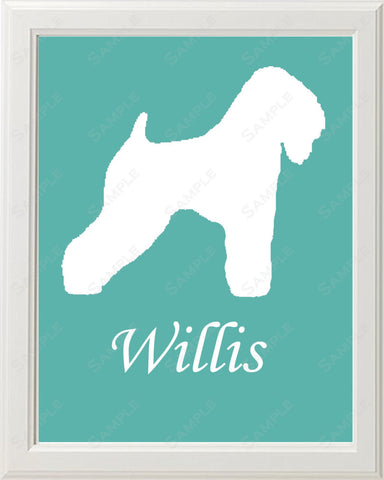 Personalized Wheaton Terrier Dog Wheaton Terrier Silhouette Art Print 8 X 10 Wheaton Terrier Dog Pet Gifts
