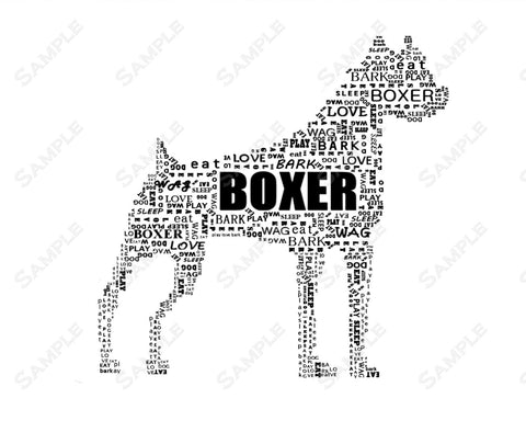 Boxer Art 8 x 10 Print. Boxer Dog Pet Gifts