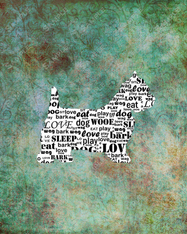 Personalized Westie West Highland White Terrier Word Art 8 x 10 Print Westie Dog Pet Gifts