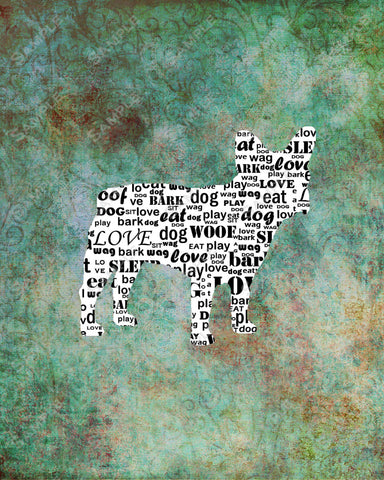 French Bulldog Word Art 8 X 10 Print. French Bulldog Dog Pet Gifts Frenchie Gifts