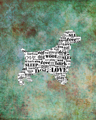 Personalized Springer Spaniel Dog Springer Spaniel Silhouette Calligram Art Print 8 X 10 Springer Spaniel Dog Pet Gifts