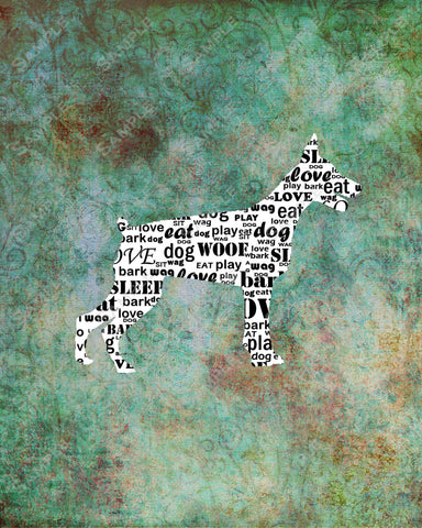 Personalized Miniature Pinscher Dog Mini Pin Silhouette Word Art 8 X 10 Print Mini Pin Dog Pet Gifts