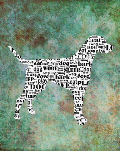 Personalized Dalmatian Dog Silhouette Dalmatianm Word Art 8 X 10 Print Dalmatian Dog Pet Gifts