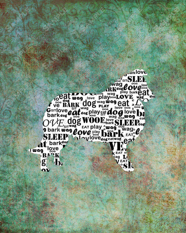 Personalized Collie Dog Silhouette Collie Word Art Collie Dog Gifts 8 X 10 Print Dog Pet Gifts