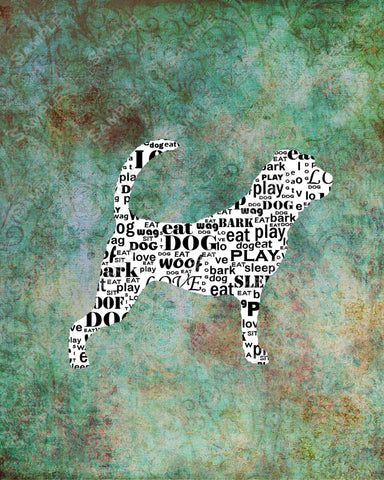 Personalized Bloodhound Dog Silhouette Bloodhoundm Word Art 8 X 10 Print Bloodhound Dog Pet Gifts