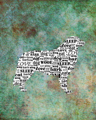 Personalized Bernese Mountain Dog Silhouette Bernese Mountain Dog Word Art 8 X 10 Print Bernese Mountain Dog Pet Gifts