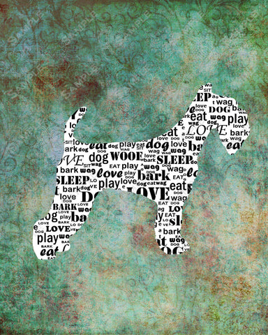 Airedale 8 X 10 Print. Wordart Airedale Dog Pet Gifts