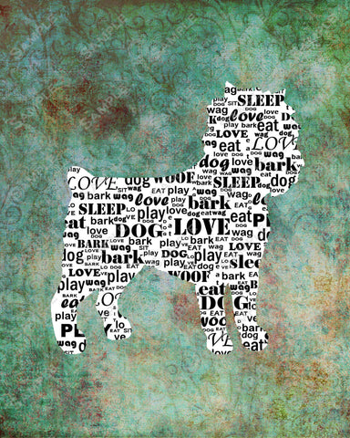 Personalized Affenspinscher Dog Affenspinscher Silhouette 8 X 10 Print Affenspinscher Word Art Dog Pet Gifts
