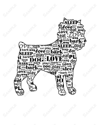 PERSONALIZED Affenspinscher Dog Affenspinscher 8 X 10 Word Art Print Affenspinscher Pet Gifts