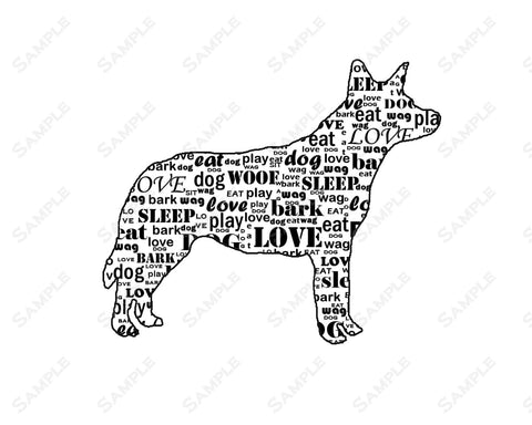 PERSONALIZED Australian Cattle Dog Gift Australian Cattle Dog Word Art 8 X 10 Print Australian Cattle Dog Pet Gifts