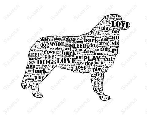 Bernese Mountain Dog Gifts. Bernese Mountain Dog Wordart  8 X 10 Print