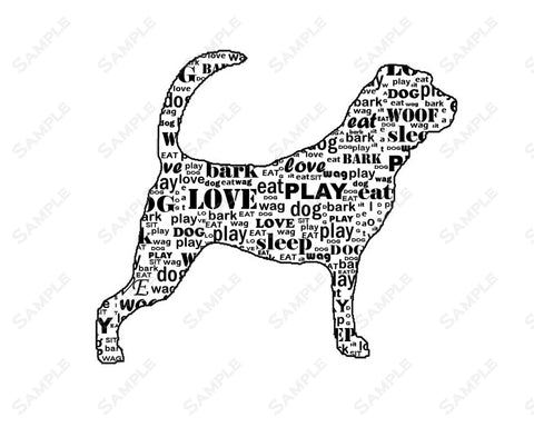 PERSONALIZED Bloodhound Dog Silhouette Bloodhound Word Art Print 8 X 10 Calligram Bloodhound Dog Print Pet Gifts
