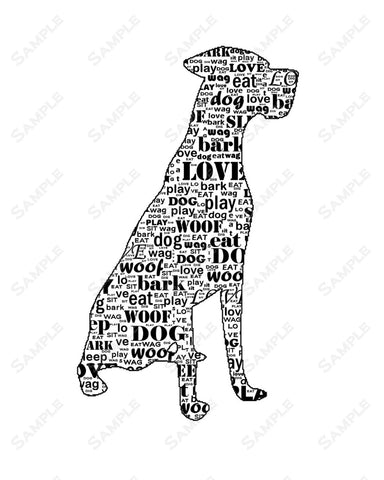 Great Dane Art 8 X 10 Print. Great Dane Pet Gifts