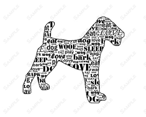 PERSONALIZED Fox Terrier Dog Silhouette Fox Terrier Word Art 8 X 10 Print Fox Terrier Dog Pet Gifts